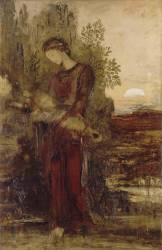 Jeune fille thrace portant la tête d'Orphée (Gustave Moreau) - Muzeo.com