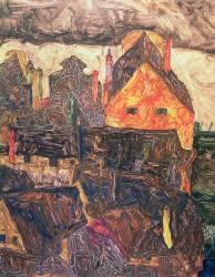 Krumau (Schiele Egon) - Muzeo.com