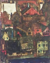 Krumau (Egon Schiele) - Muzeo.com