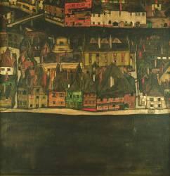 Krumau, la petite ville (Schiele Egon) - Muzeo.com