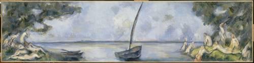 La barque et les baigneurs (Cézanne Paul) - Muzeo.com