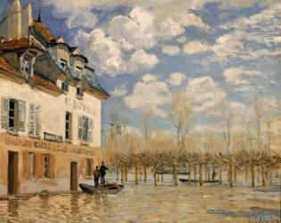 La barque pendant l'inondation, Port Marly (Alfred Sisley) - Muzeo.com