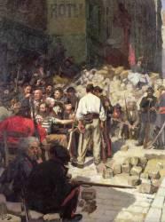 La Barricade ou l'Attente en 1871 (André Devambez) - Muzeo.com