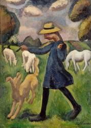 La bergère. Marie Ressort enfant (La Fresnaye Roger de) - Muzeo.com