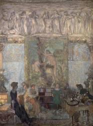 La bibliothèque (Edouard Vuillard) - Muzeo.com