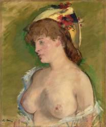 La blonde aux seins nus (Edouard Manet) - Muzeo.com