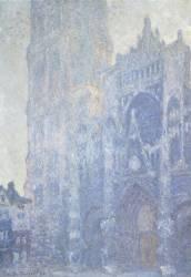 La cathédrale de Rouen. Le portail et la tour Saint-Romain, effet du matin (Claude Monet) - Muzeo.com