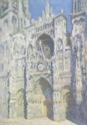La cathédrale de Rouen. Le portail et la tour Saint-Romain, plein soleil (Monet Claude) - Muzeo.com