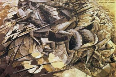 La charge des lancier (Boccioni Umberto) - Muzeo.com