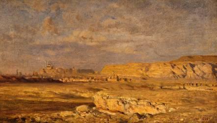 La Citadelle de Mokatan, prés du Caire (Belly Léon Adolphe Auguste) - Muzeo.com
