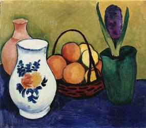 La Cruche Blanche avec Fleur et Fruit (August Macke) - Muzeo.com