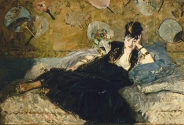La dame aux éventails, Nina de Callias (Manet Edouard) - Muzeo.com