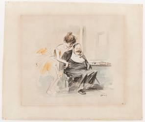 La danseuse et son ami (Forain Jean-Louis) - Muzeo.com
