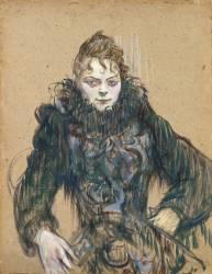 La femme au boa noir (Henri de Toulouse-Lautrec) - Muzeo.com