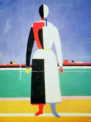 La femme au râteau (Kazimir Malevitch) - Muzeo.com