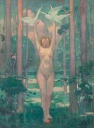 La Femme aux colombes (Maurice Denis) - Muzeo.com