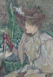 La femme aux gants (Honorine Platzer) (Toulouse-Lautrec Henri de) - Muzeo.com