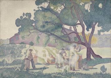 La ferme, matin (Cross Henri-Edmond) - Muzeo.com