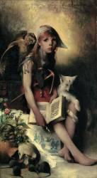 La fille de la sorcière (Carl Larsson) - Muzeo.com