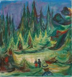 La forêt de conte de fées (Edvard Munch) - Muzeo.com