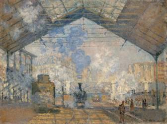 La gare Saint-Lazare (Monet Claude) - Muzeo.com