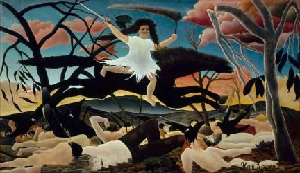 La Guerre ou la chevauchée de la discorde (Le Douanier Rousseau) - Muzeo.com