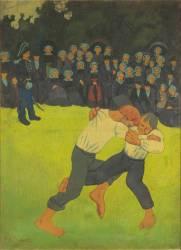 La lutte bretonne (Serusier Paul) - Muzeo.com