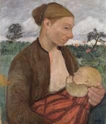 La Mère et l'Enfant (Paula Modersohn-Becker) - Muzeo.com