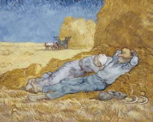 La méridienne ou la sieste (d'après Millet) (Vincent Van Gogh) - Muzeo.com