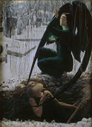 La mort et le fossoyeur (Carlos Schwabe) - Muzeo.com