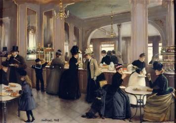 La pâtisserie Gloppe, avenue des Champs-Elysées (Béraud Jean) - Muzeo.com