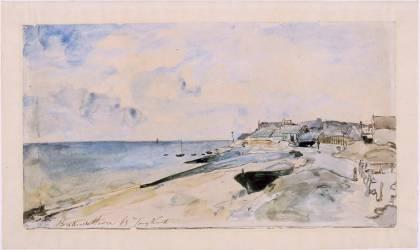 La plage de Sainte Adresse (Johan Barthold Jongkind) - Muzeo.com