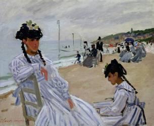 La plage à Trouville (Claude Monet) - Muzeo.com