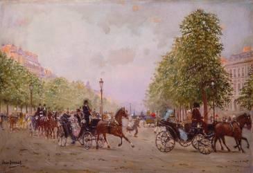La promenade aux Champs-Elysées (Béraud Jean) - Muzeo.com
