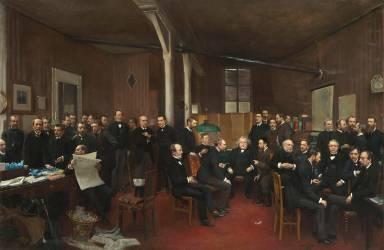 La Rédaction du Journal des Débats en 1889 (Jean Béraud) - Muzeo.com