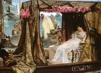 La Rencontre d'Antoine et de Cléopâtre (Lawrence Alma-Tadema) - Muzeo.com