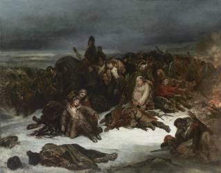 La Retraite de l'Armée de Napoléon de la Russie en 1812 (Ary Scheffer) - Muzeo.com