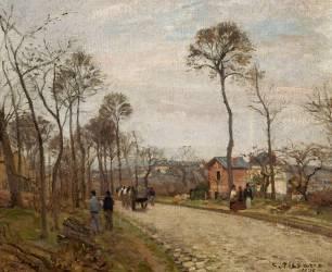 La route de Louveciennes (Camille Pissarro) - Muzeo.com