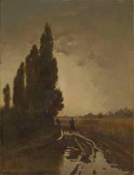La Route sous la pluie (Belly Léon Adolphe Auguste) - Muzeo.com