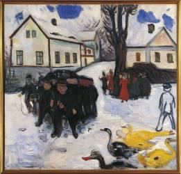 La rue du village (Edvard Munch) - Muzeo.com