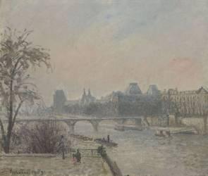 La Seine et le Louvre (Camille Pissarro) - Muzeo.com