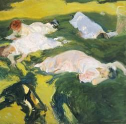 La sieste (Joaquin Sorolla y Bastida) - Muzeo.com