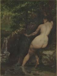 La Source dit aussi Baigneuse à la source (Courbet Gustave) - Muzeo.com