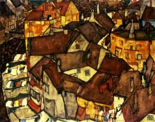 La ville de Krumau (Schiele Egon) - Muzeo.com