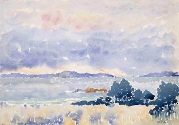 Landes au bord de la mer (Henri-Edmond Cross) - Muzeo.com