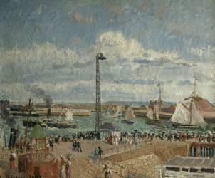 L'Anse des pilotes au Havre, haute mer après midi, soleil (Camille Pissarro) - Muzeo.com