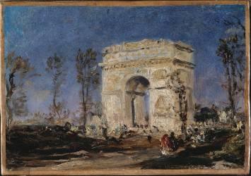 L'Arc de Triomphe de l'Etoile (Félix Ziem) - Muzeo.com