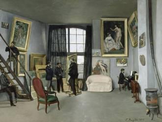 L'Atelier de Bazille, 9 rue de la Condamine à Paris (Bazille Jean Frédéric) - Muzeo.com