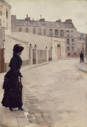 L'attente, rue de Chateaubriand, à Paris (Jean Béraud) - Muzeo.com