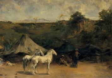 Le Campement arabe (Fromentin Eugène) - Muzeo.com
